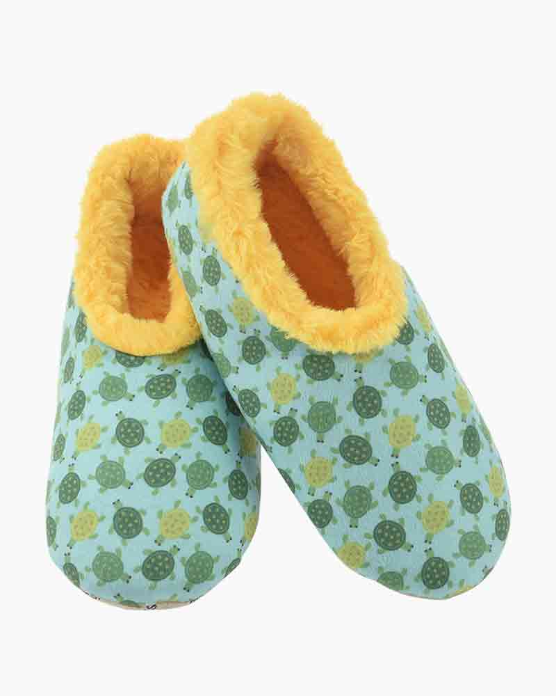 Furry Nice Snoozies Slippers Turtles