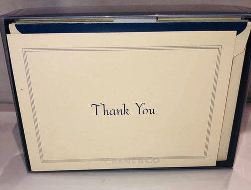 Regent Blue Triple hairline Thank you notes