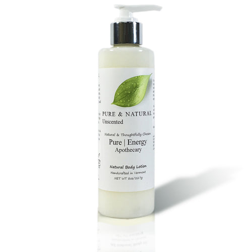 Natural Hand and Body Lotion 8 Oz (Pure & Natural, Unscented)