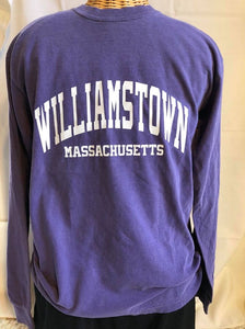Purple Long sleeve Williamstown t shirt
