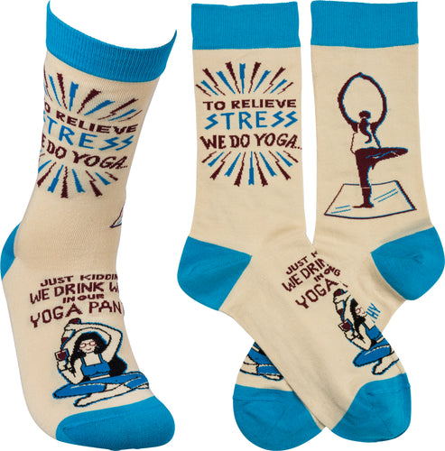 Socks - Drink Wine In Our Yoga Pants