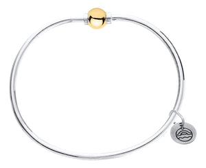 Sterling Silver Cape Cod Bracelet with 14k Gold Bead