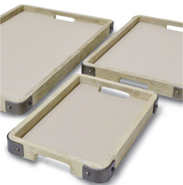 Brockton Trays, Set Of 3
