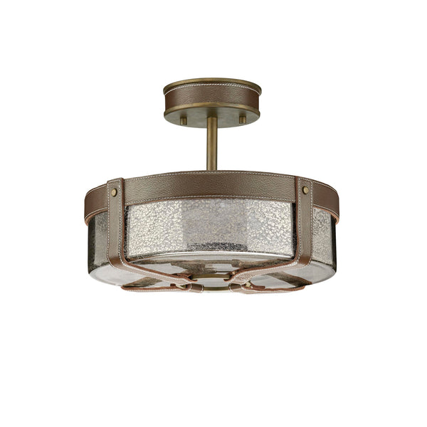 Rockdance Collection Semi-Flush Aged Brass