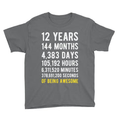 12 Years of Being Awesome Birthday T-Shirt