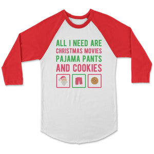 All I Need For Christmas Birthday T-Shirt Adult XS / White/Red