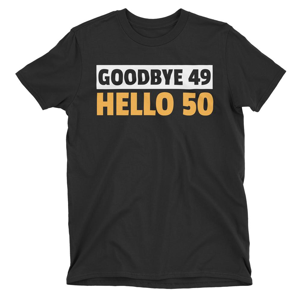Custom Hello Goodbye Birthday T-Shirt Black / 2T