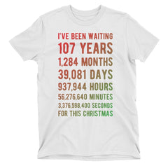 For This Christmas Countdown Birthday T-Shirt Adult S / White