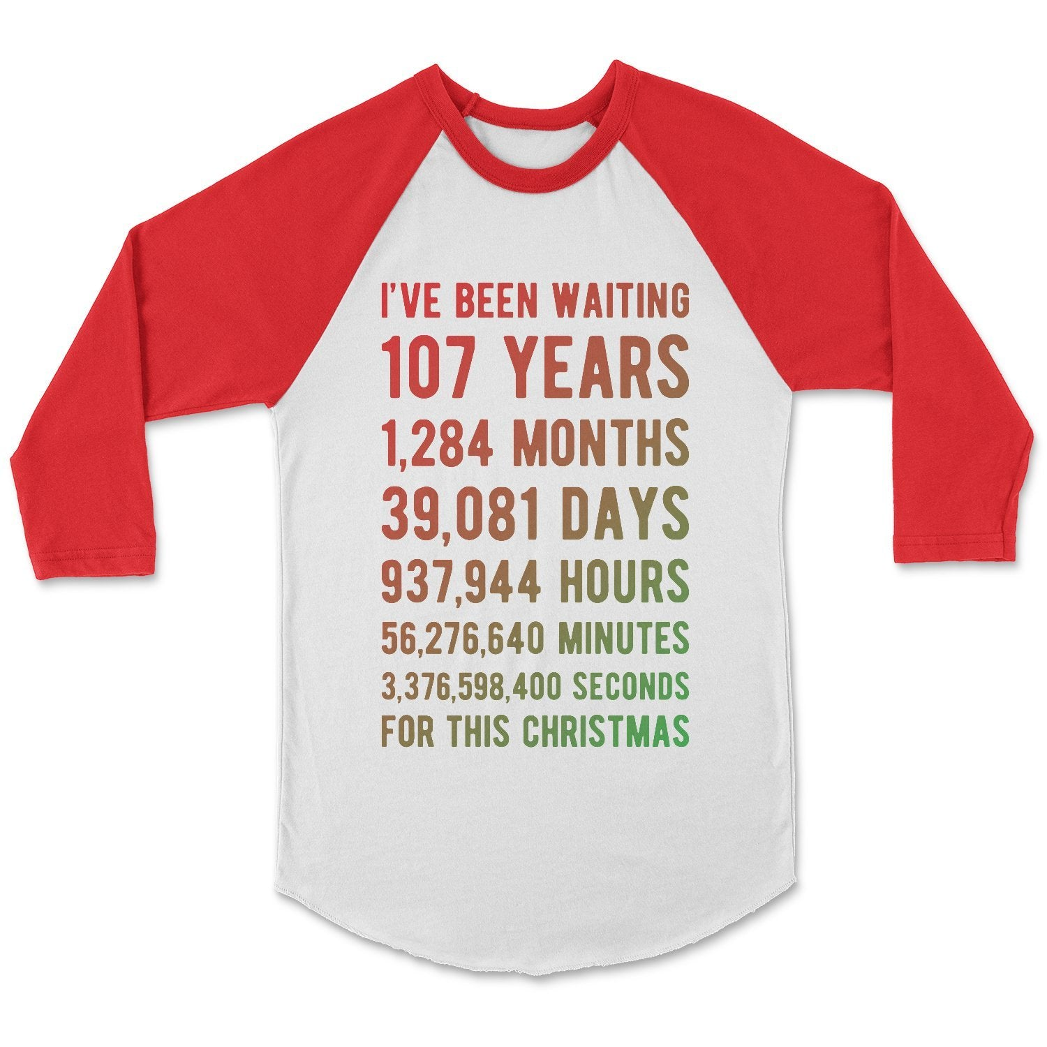 For This Christmas Countdown Birthday T-Shirt Adult XS / White/Red