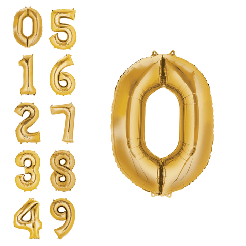 Individual Numbered Gold Foil Balloons Birthday T-Shirt