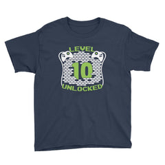 Level 10 Unlocked Birthday T-Shirt Navy / Youth XS