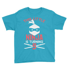 This Little Ninja is Turning 5 Birthday T-Shirt
