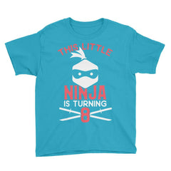 This Little Ninja is Turning 8 Birthday T-Shirt