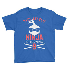 This Little Ninja is Turning 9 Birthday T-Shirt