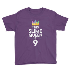 This Slime Queen is 9 Birthday T-Shirt Purple / Youth XS
