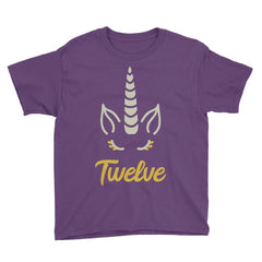 Unicorn Birthday Horn - Twelve Birthday T-Shirt