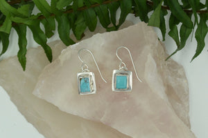 Square Turquoise Dangles