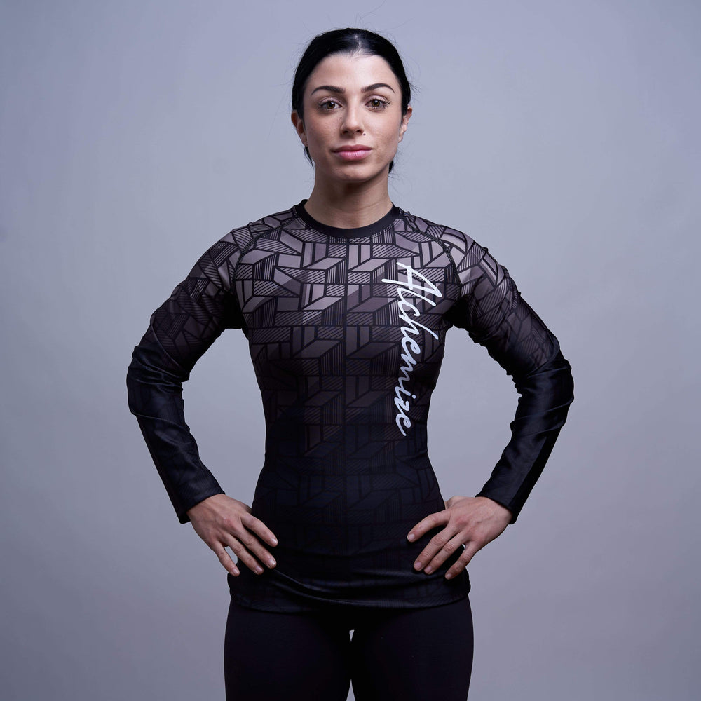 Alchemize Fightwear Women's No-Gi Rashguard Transform Ranked Rashguard Black PREORDER