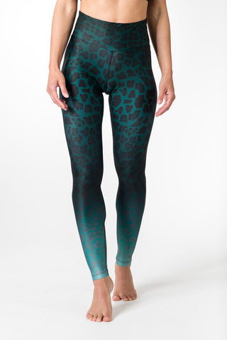Leggings Green Leopard