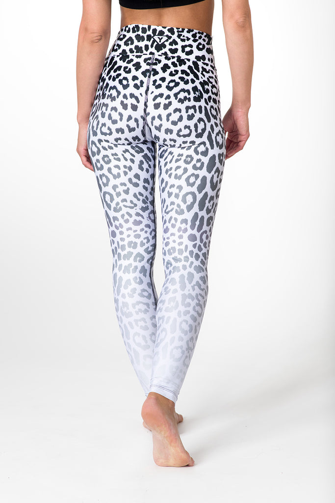 Leggings White Leopard