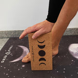 Cork Yoga Block Moon
