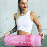 YOGA MAT PINK MARBLE 3.5mm