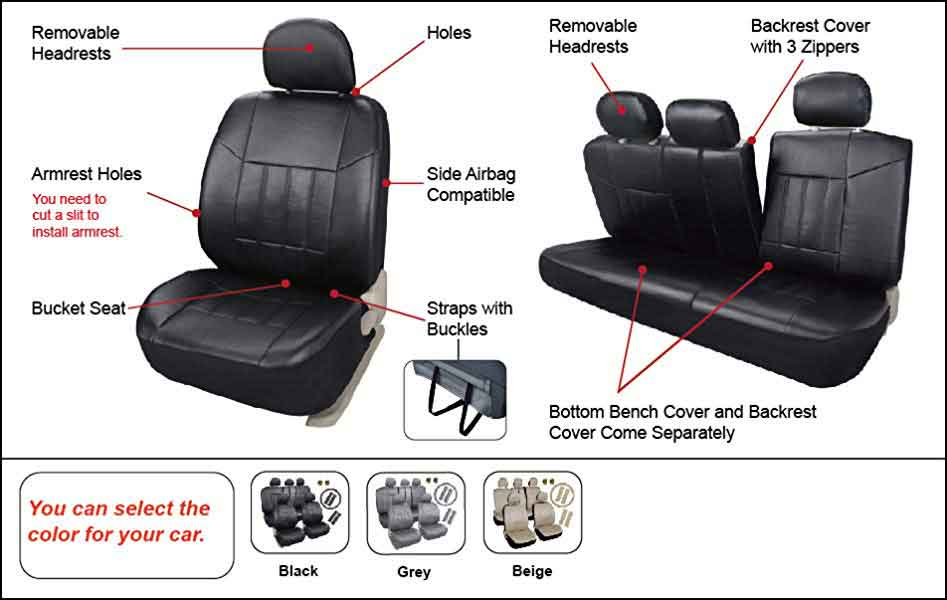 leader accessories seat covers