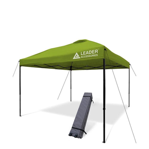 10' x 10' Instant Canopy Tent Shelter Portable Folding Straight Leg with Wheeled Carry Bag - Leader Accessories