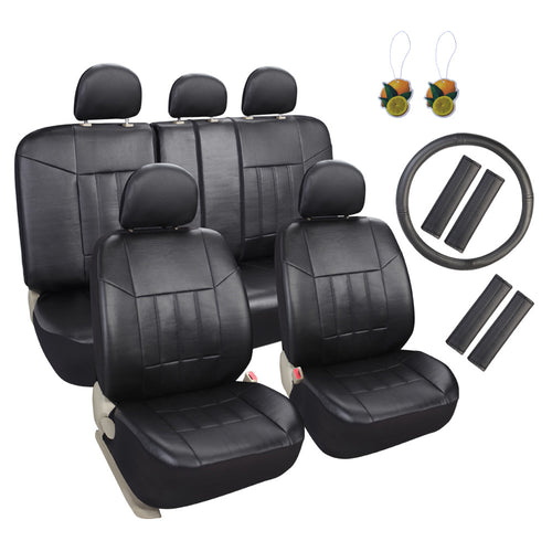 Faux Leather Car Seat Covers Full Set