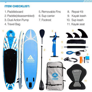 "11'2"" Inflatable Stand Up Board - Leader Accessories"