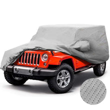 Load image into Gallery viewer, Jeep Car Cover 5 Layer Nonwovens 2 Different Sizes Fit Jeep Wrangler GREY