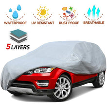Load image into Gallery viewer, SUV Car Cover 5 Layer Nonwovens 3 Different Sizes GREY