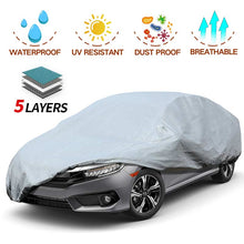 Load image into Gallery viewer, Sedan Car Cover 5 Layer Nonwovens 3 Different Sizes GREY