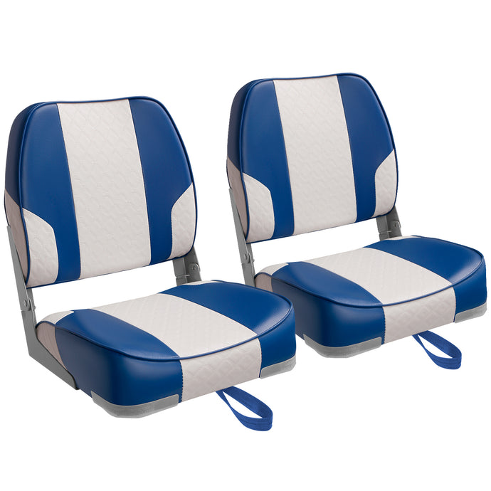 Deluxe Low Back Fold-Down Fishing Boat Seats (2 Seats)