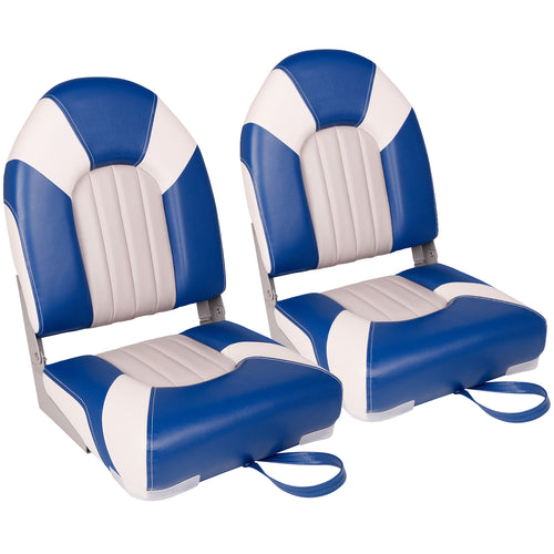 Deluxe High Back Fold-Down Fishing Boat Seat (2 Seats)