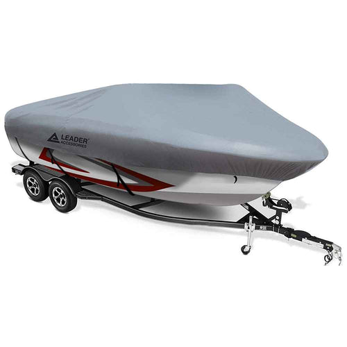 210D Polyester Grey Mooring Runabout Boat Covers