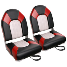 Load image into Gallery viewer, Deluxe High Back Fold-Down Fishing Boat Seats (2 Seats)