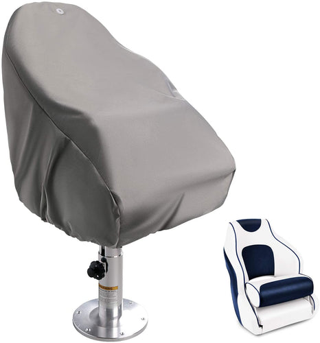 600D Premium Boat Seat Cover Fit for Captain Boat Seat Grey