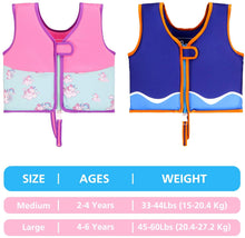 Load image into Gallery viewer, Kid's Learn to Swim Vest Blue