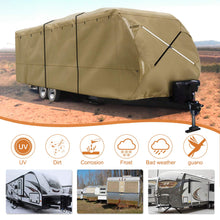 Load image into Gallery viewer, Travel Trailer RV Cover Premium 300D Upgrade TAN