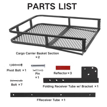 Load image into Gallery viewer, Hitch Mount Cargo Basket Folding Cargo Carrier