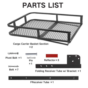Hitch Mount Cargo Basket Folding Cargo Carrier