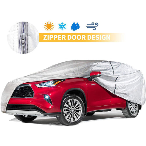 SUV Car Cover Aluminium Cotton with Door Zipper Up to 240