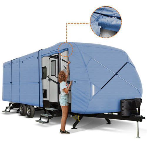 Travel Trailer RV Cover BLUE