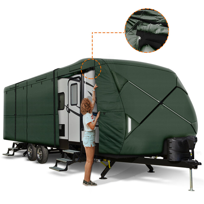 Travel Trailer RV Cover GREEN