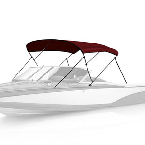 3 Bow Bimini Top BURGUNDY - High Quality Bimini Tops