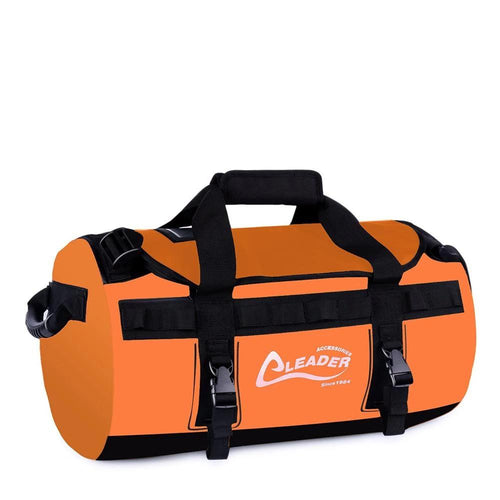 Deluxe Water Resistant PVC Tarpaulin Duffel Bag Backpack 40L 70L 90L 6 Colors - Leader Accessories