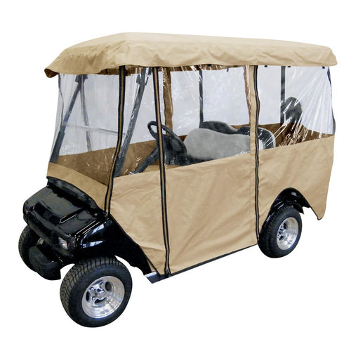 Deluxe 4-Person Golf Cart Cover BEIGE