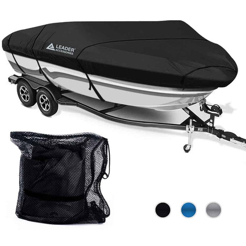 300D Polyester Trailerable Runabout Boat Covers Black