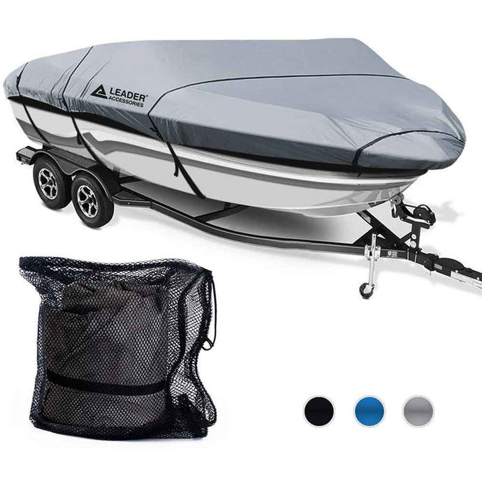 300D Polyester Trailerable Runabout Boat Covers Grey